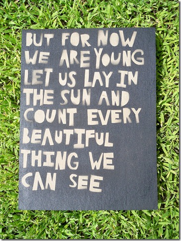 But for now we are young...